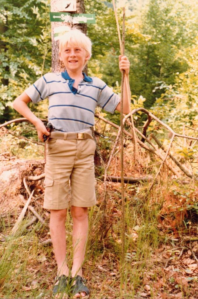 Als Kind mit Messer
