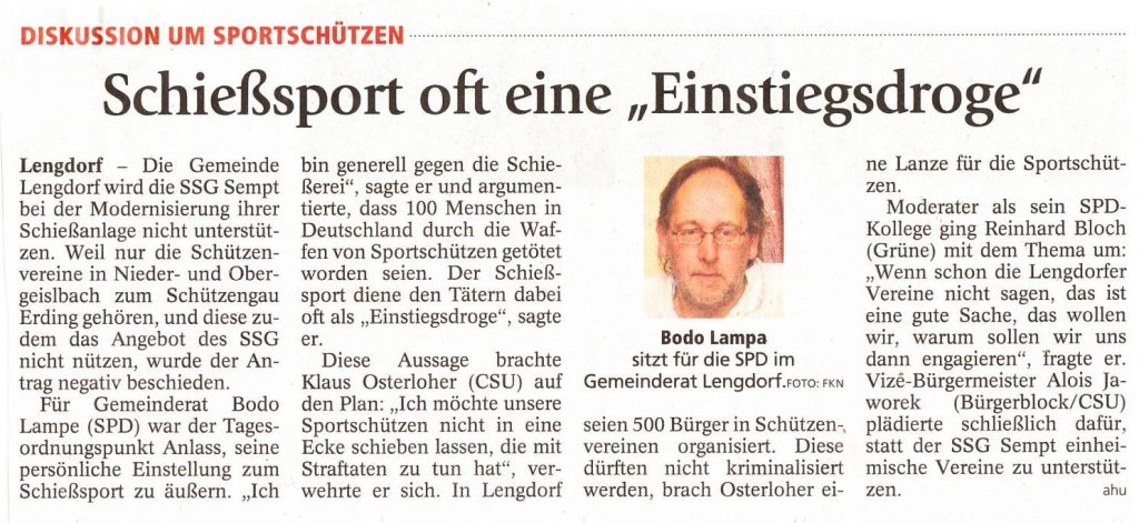 Erdinger Anzeiger vom 7.8.2014 Lokalteil.