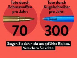 Gefühlte vs. echte Risiken: Warum Kugelschreiber tödlicher sind als Schusswaffen Quelle: www.gdv.de