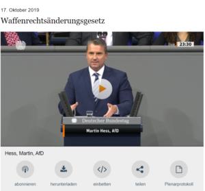 Rede Martin Hess Quelle: Mediathek des Bundestags