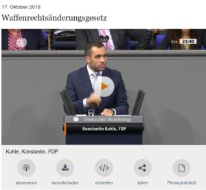 Rede Konstantin Kuhle Quelle: Mediathek des Bundestags